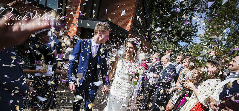 The Our Lady and St Thomas of Canterbury church and Norfolk Mead Hotel wedding of Georgia and Ben